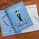 Personalized First Communion Boy's Memory Book