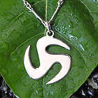 Men's Trinity Discus Sterling Silver Necklace