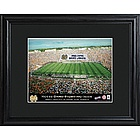 Personalized Notre Dame Stadium Framed Print