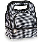 Houndstooth Savoy Lunch Tote with Storage Container