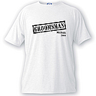 Personalized Stamp Series Men's Bridal Party T-Shirt