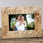 Engraved Couple's Hearts Wood Picture Frame