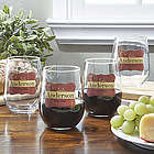 Wine Please Personalized Stemless Wine Glass Set