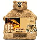 Personalized Lawyer Bear Business Card Holder