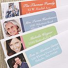 Personalized Simple Stripes Photo Return Address Labels