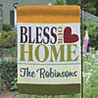 Bless Our Home Personalized Garden Flag