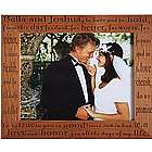 Wedding Vows Wood Photo Frame