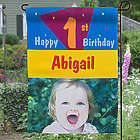 Birthday Party Personalized Photo Garden Flag