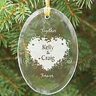 Together Forever Personalized Oval Glass Ornament