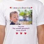 Loving Him Personalized Photo T-Shirt