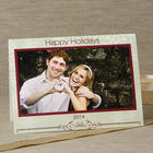 Snowflake Greetings Horizontal Photo Cards and Envelopes