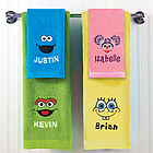 Personalized Embroidered Sesame Street/Nickelodeon Hand Towel