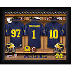 Personalized Michigan Wolverines Football Locker Room Print