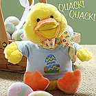 Personalized Stuffed Easter Duck