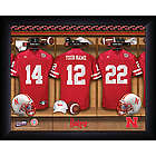Personalized Nebraska Huskers Football Locker Room Print
