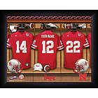 Personalized Nebraska Huskers Football Locker Room Print