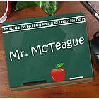 Teacher Chalkboard Personalized Mouse Pad