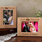 Personalized Just Married Wooden Picture Frame