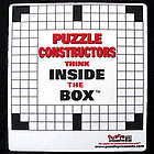 """Puzzle Constructors Think Inside the Box"" Mouse Pad"