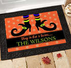 Scary Witch Personalized Doormat