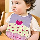 Baby Girl's Personalized Cupcake Baby Bib