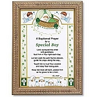 Irish Baptismal Prayer Framed Print for Boy
