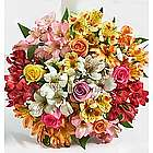 Assorted Roses and Peruvian Lilies