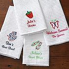 Embroidered Kitchen Towel Set - Summer Time Designs