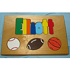 Personalized Sports Theme Name Puzzle Stool