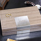 Personalized Lacquered Valet Box in Gray