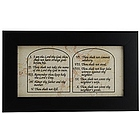 Ten Commandments Jerusalem Stone Wall Plaque
