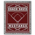 Classic Personalized Two Color Baseball Afghan