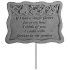 If I Had A Single Flower Garden Plaque