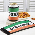 Personalized Irish Flag Beer Can and Bottle Wrap