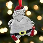 Personalized Metal Santa Ornament