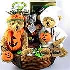 Halloween Teddy Bear Duo and Treats Gift Basket