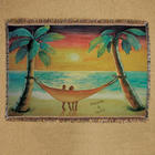 Beach Sunset Personalized Throw Blanket