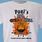BBQ Grill & Chill Personalized T-Shirt