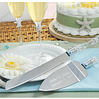 Personalized Beach Wedding Cake Server Set
