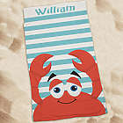 Kid's Personalized Crab Beach Towel