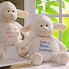 Personalized Plush Christening/Baptism Lamb