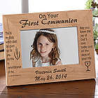 Personalized First Communion Photo Frame