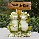 Frog Couple Welcome Sign