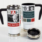 Dad's Personalized Photo Collage Commuter Travel Mug