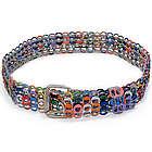 Multicolor Armor Chain Mail Soda Pop-Top Belt