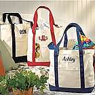 Black Personalized Name Canvas Tote