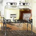 Mason Jar Dual Drink Dispensers on a Stand