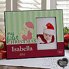 Precious Moments Personalized Baby's First Christmas Frame