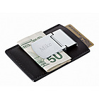 Silver Money Clip with Leather Credit Card Holder
