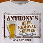 Beer Service Personalized T-Shirt